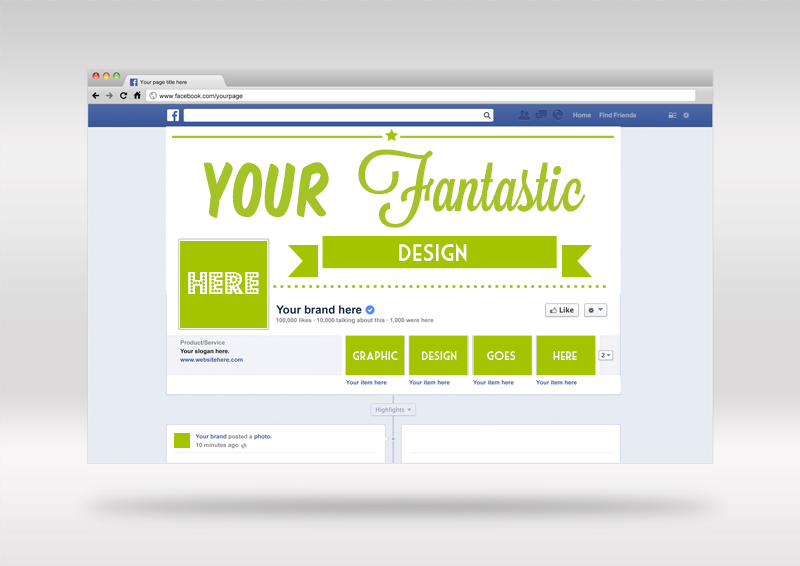 FREE Mockup | PSD Facebook cover template | Freebies & Deals for
