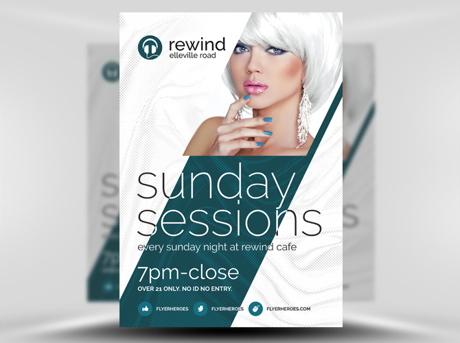 Free Template Sunday Sessions Nightclub Flyer Freebies Deals