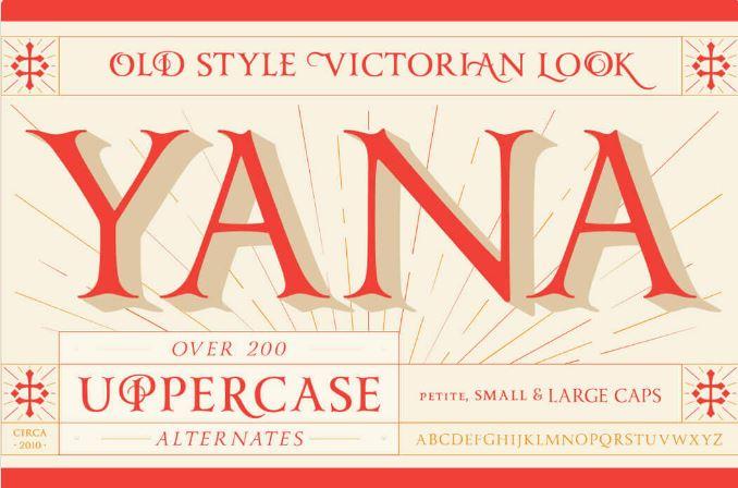 Yana Font Family by Laura Worthington $15
