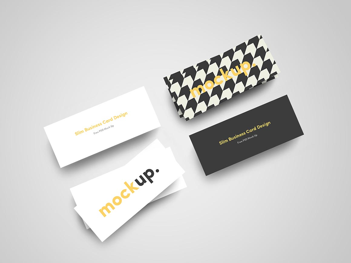 Free mockup slim business card freebies deals for graphic great for your new slim business card or identity presentations or for graphic designers to showcase your design template for your cheaphphosting Gallery
