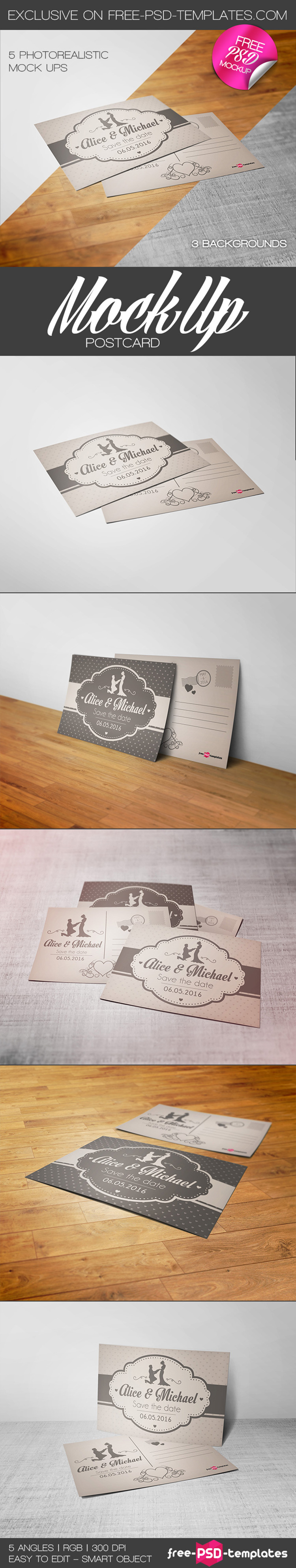 Free Mockup Psd Postcards Freebies Deals For Graphic Designers