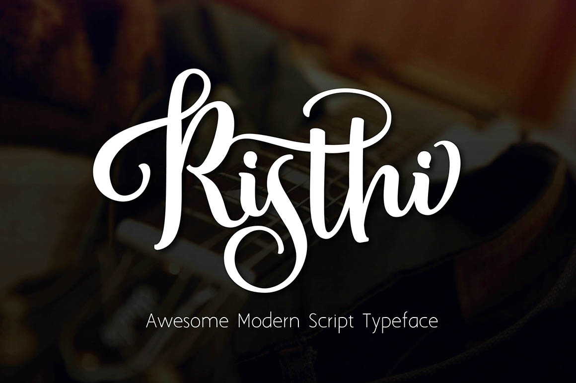 Risthi Script Is Handwritten Stylish Copperplate Calligraphy Fonts Combines From To Contemporary Typeface With A Dancing Baseline