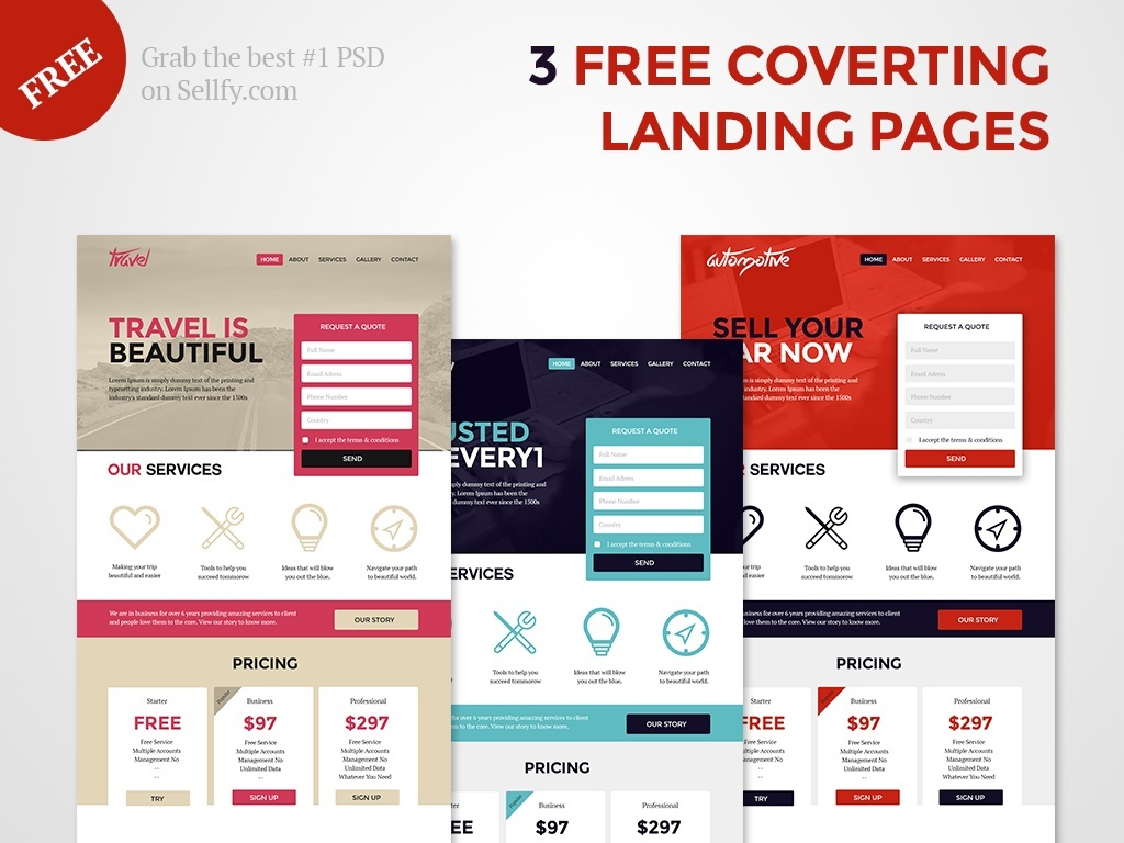 Free Landing Page Template | Free Web Landing Pages Psd Template Freebies Deals For Graphic
