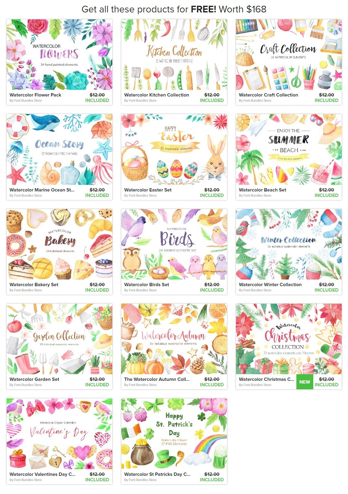 Watercolor freebies