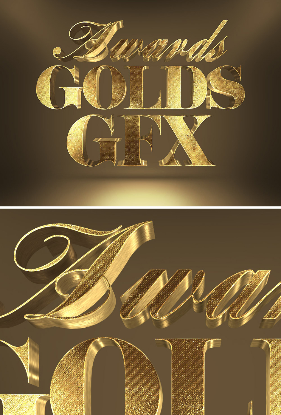 Free 3D Gold Text Effects   Freebies & Deals for Graphic