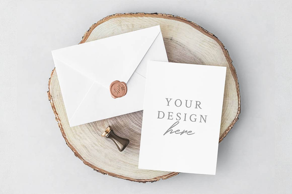 Free greeting card mockup gallery greeting card examples free mockup card envelope stylish minimalistic greeting card mockup presentation on rustic wood this free card kristyandbryce Gallery