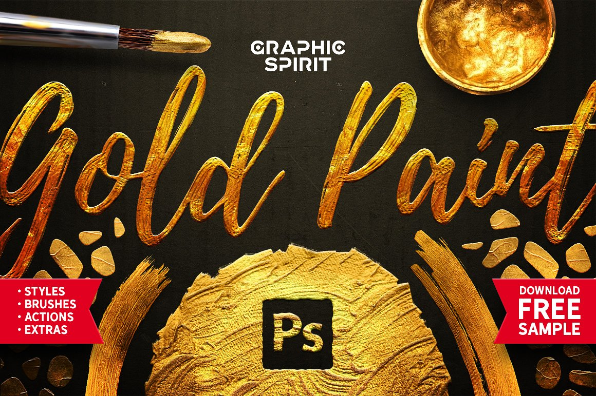 TOOLKIT Gold Paint Effect Photoshop - Layer Styles - 1