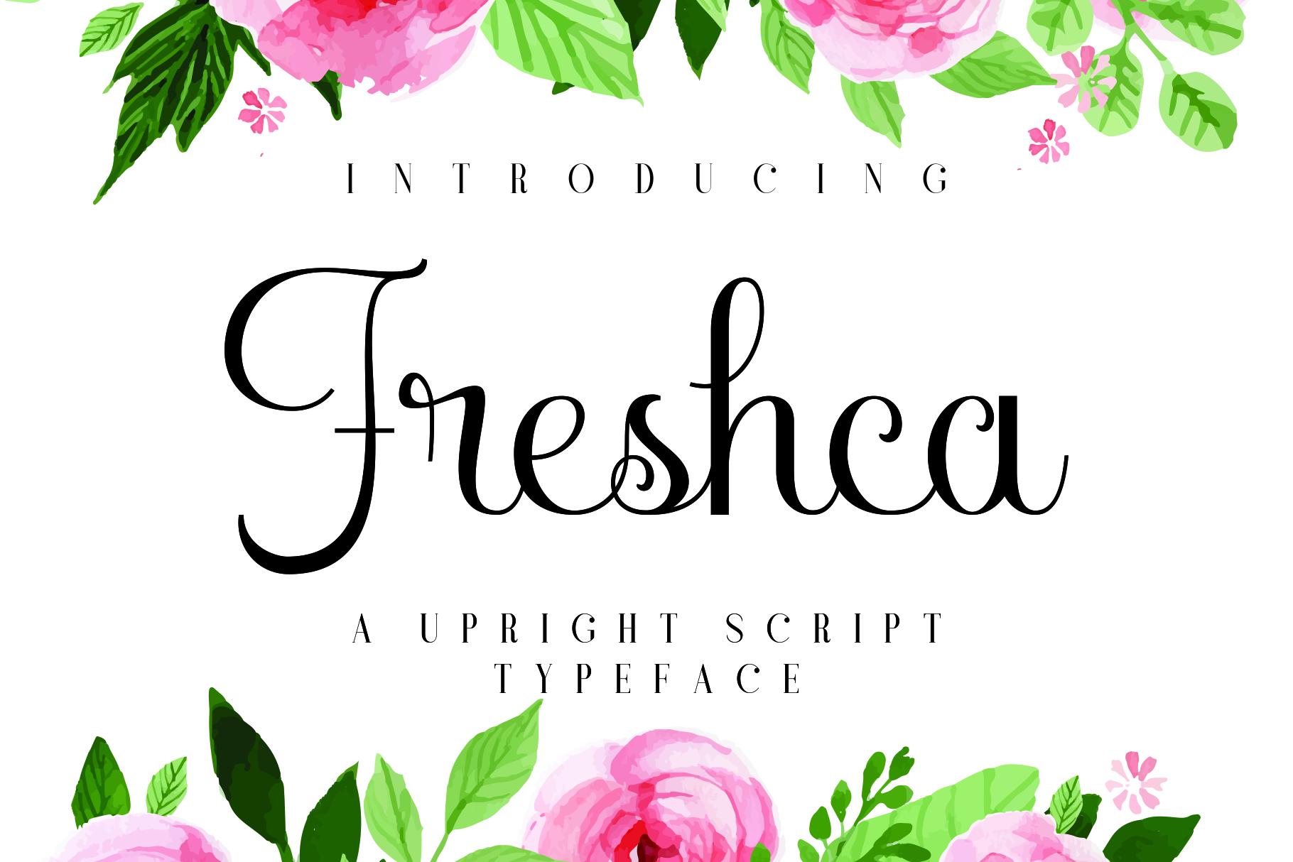 Freshca - free upright script font