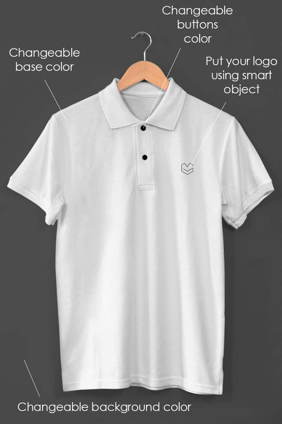 Free Mockup Hanging Polo Shirt Freebies Deals For Graphic