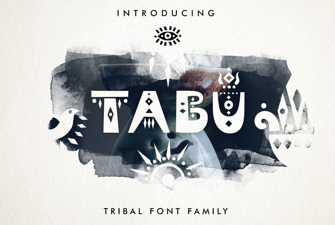 Tabu - Tribal Font Family by Struvictory.art