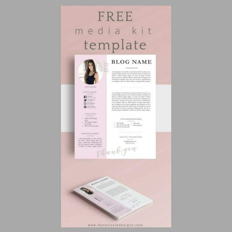 Free Templates Brand Media Kits Freebies Deals For Graphic