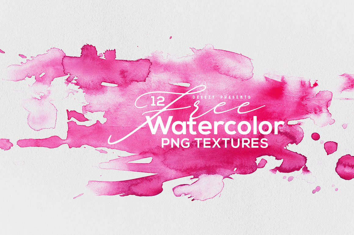 Free Textures 12 Watercolor Png Freebies Deals For