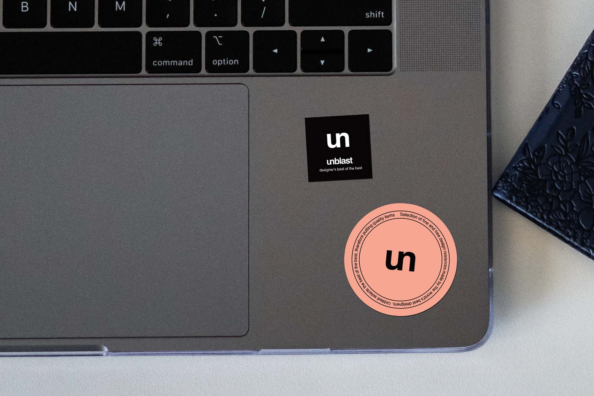 Sticker on Laptop Mockup 2