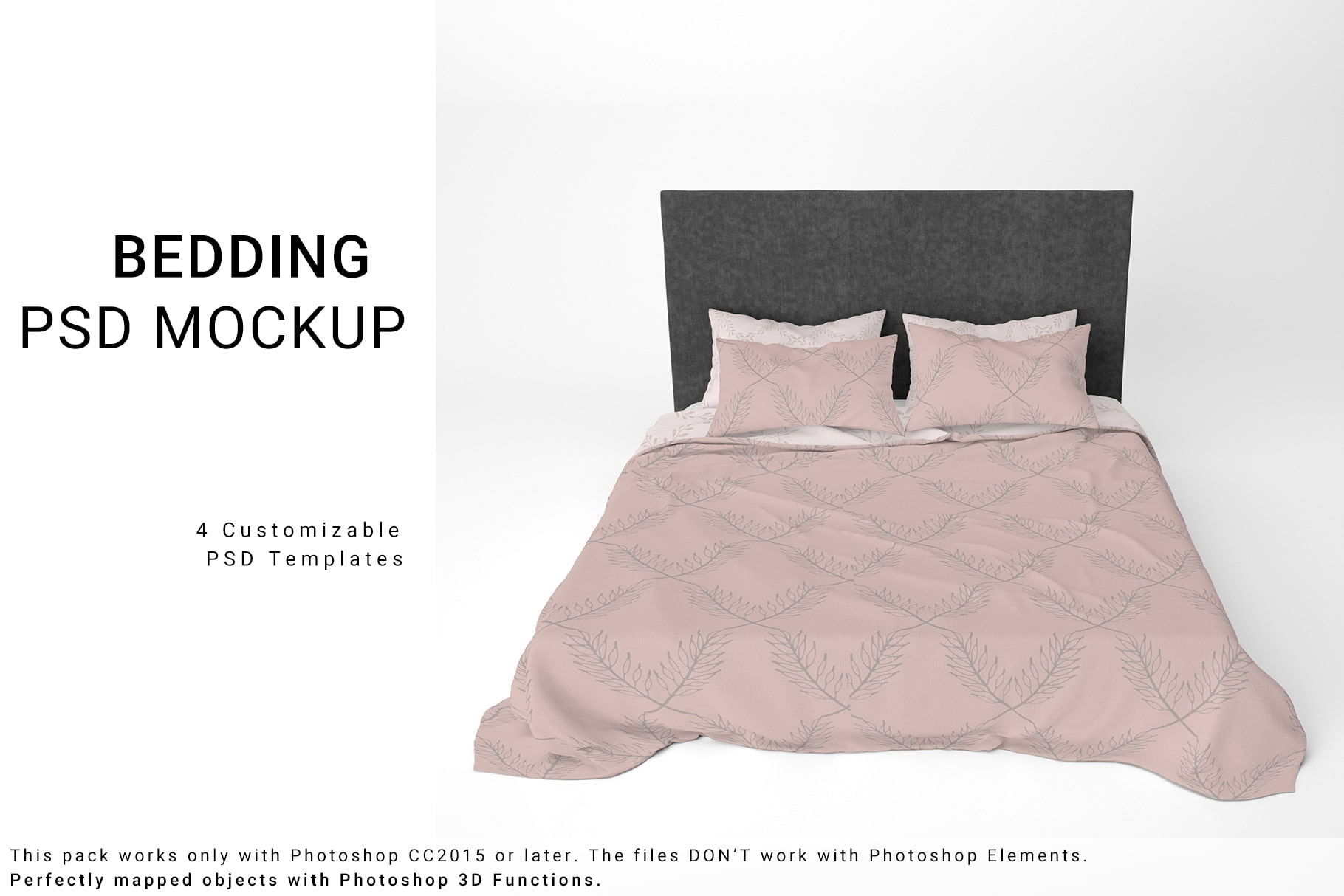 Duvet and Pillowcases Bedding Set Free Mockup - commercial use freebies