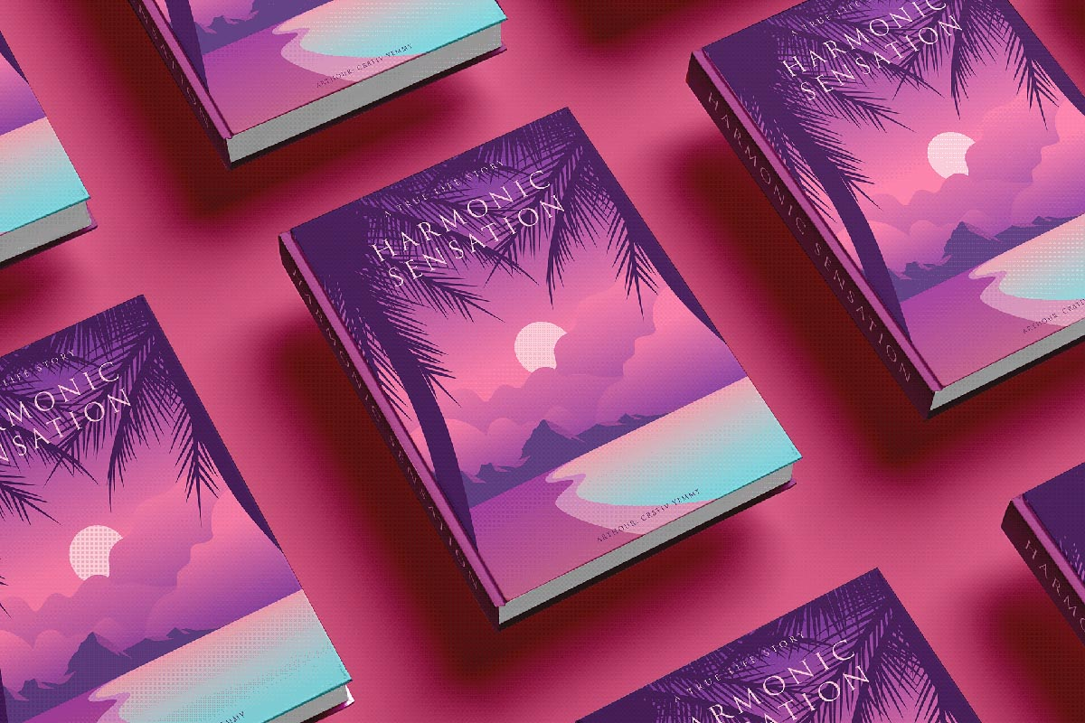 Free Book Cover Mockup Floating displays